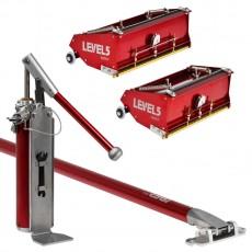 레벨파이브 퍼티장비 플랫밧스 기본세트6-1003 클래식플랫12인치4-766/클래식플랫10인치4-765/컴파운드펌프4-771/익스텐션핸들62