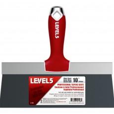 레벨5 블루 스틸 10인치 테이핑 나이프 5-126 소프트 그립 손잡이 미장 퍼티 페인트 헤라 스크래퍼